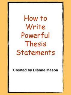Free Examples of Thesis Statements: Tips on Writing a